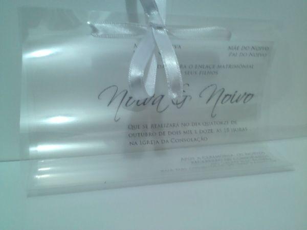 Convite crystal envelope transparente sweet convites - Papel de regalo transparente ...